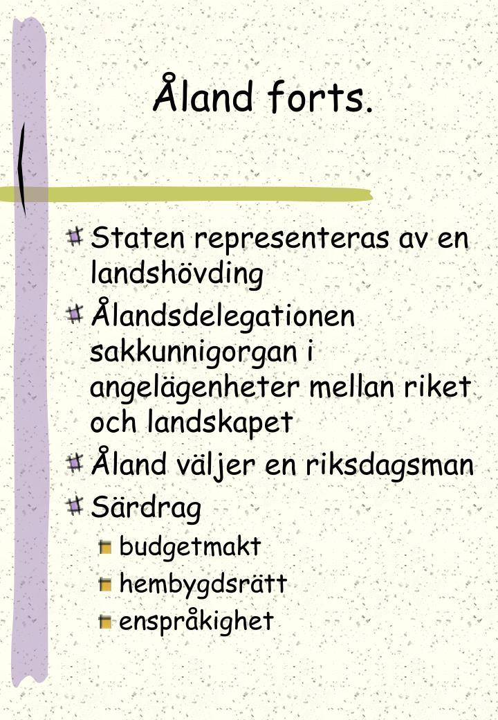 Åland forts.