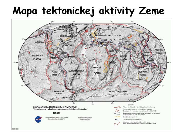 Mapa tektonickej aktivity Zeme