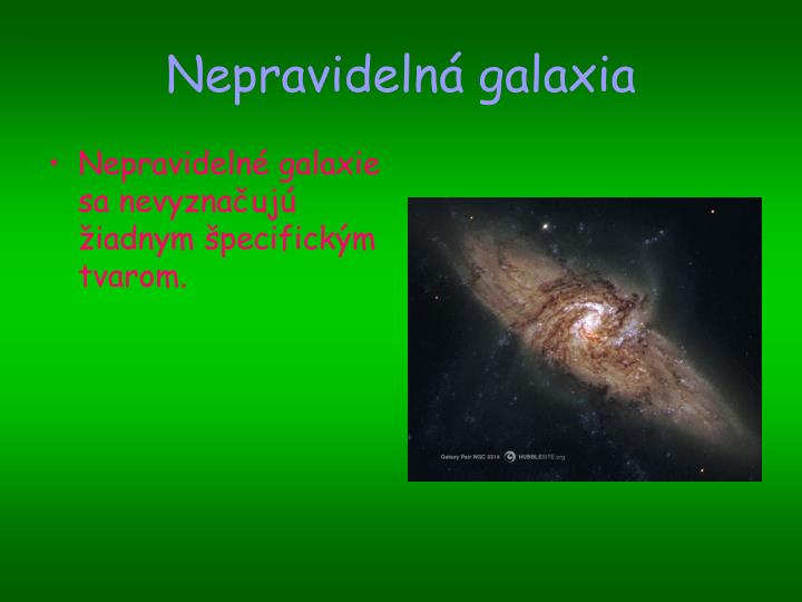 Nepravidelná galaxia
