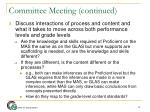 committee meeting continued