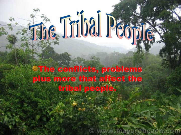 The conflicts problems plus more that affect the tribal people
