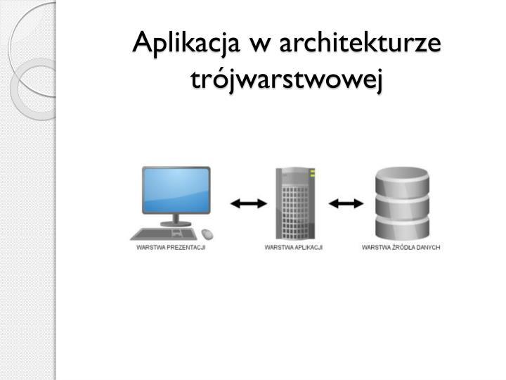 Aplikacja w architekturze tr jwarstwowej