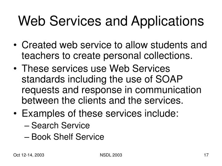 Web Services and Applications