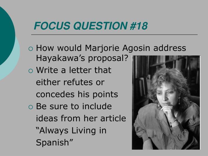 FOCUS QUESTION #18
