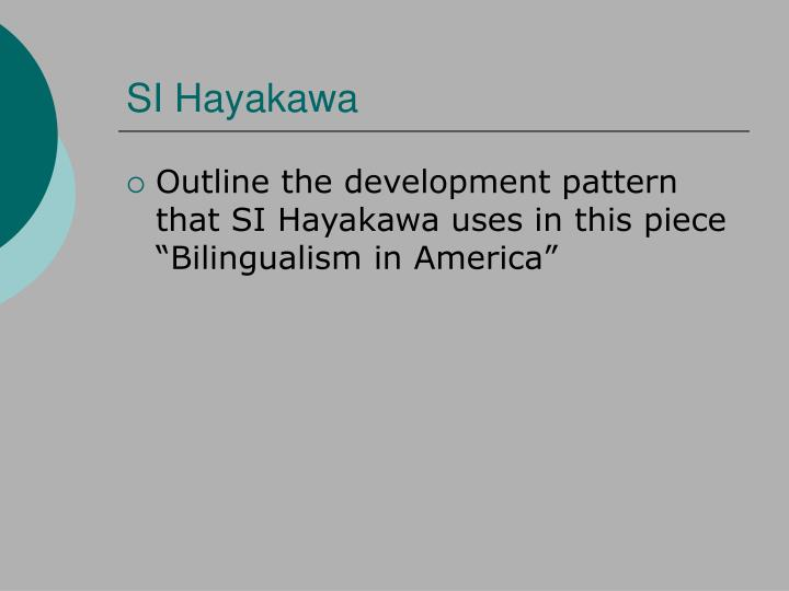 SI Hayakawa