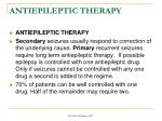 antiepileptic therapy