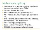 medications in epilepsy