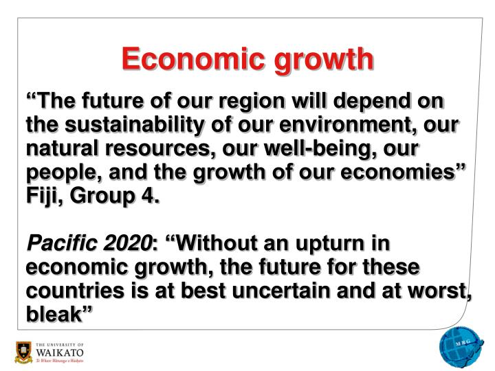 """The future of our region will depend on the sustainability of our environment, our natural resources, our well-being, our people, and the growth of our economies"""