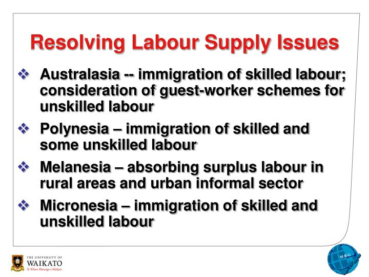 Australasia -- immigration of skilled labour; consideration of guest-worker schemes for unskilled labour