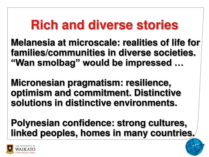 "Melanesia at microscale: realities of life for families/communities in diverse societies. ""Wan smolbag"" would be impressed …"