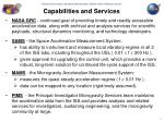capabilities and services