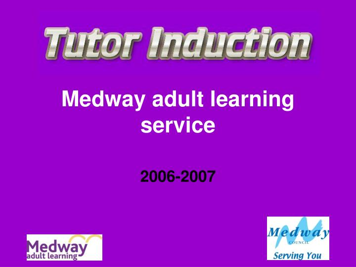 medway adult learning service n.