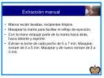 extracci n manual