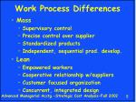 work process differences