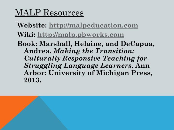 MALP Resources
