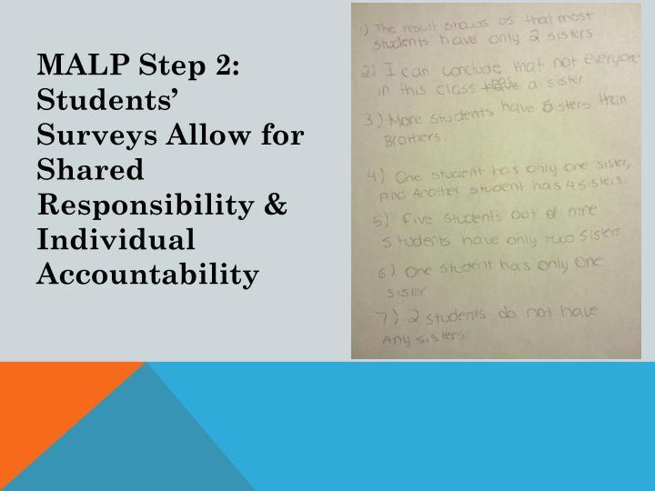 MALP Step 2:  Students