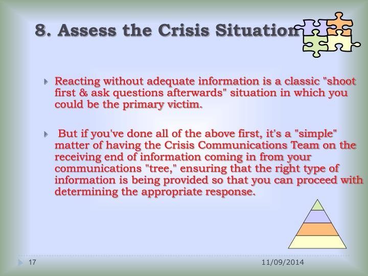 8. Assess the Crisis Situation