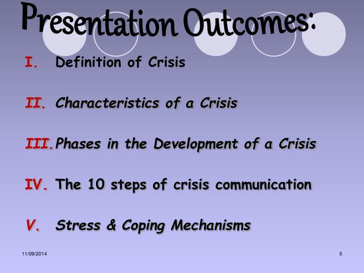 Presentation Outcomes: