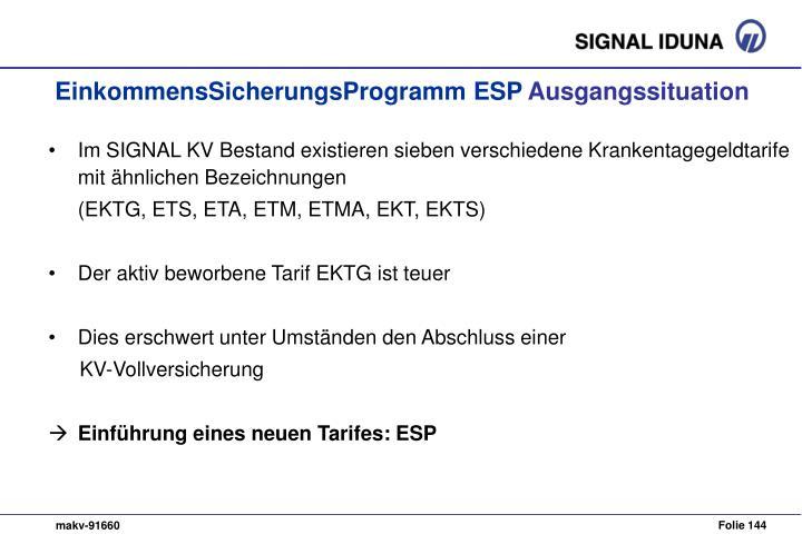 EinkommensSicherungsProgramm ESP