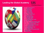 leading the global academy