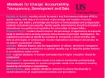 manifesto for change accountability transparency development and data