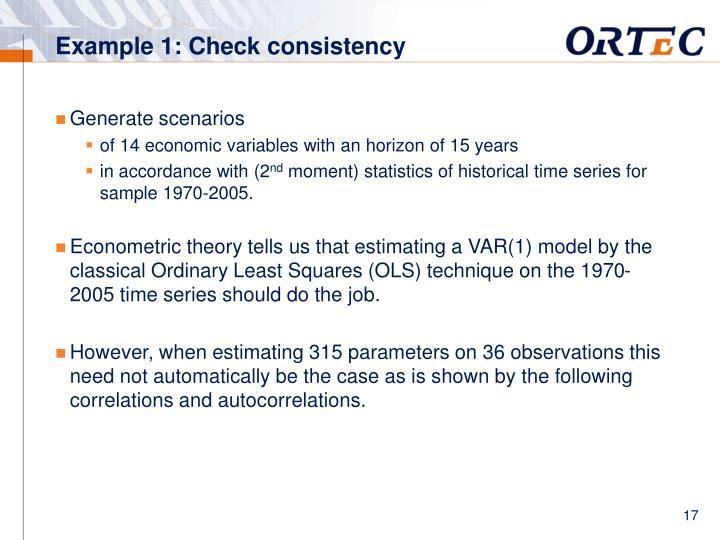 Example 1: Check consistency