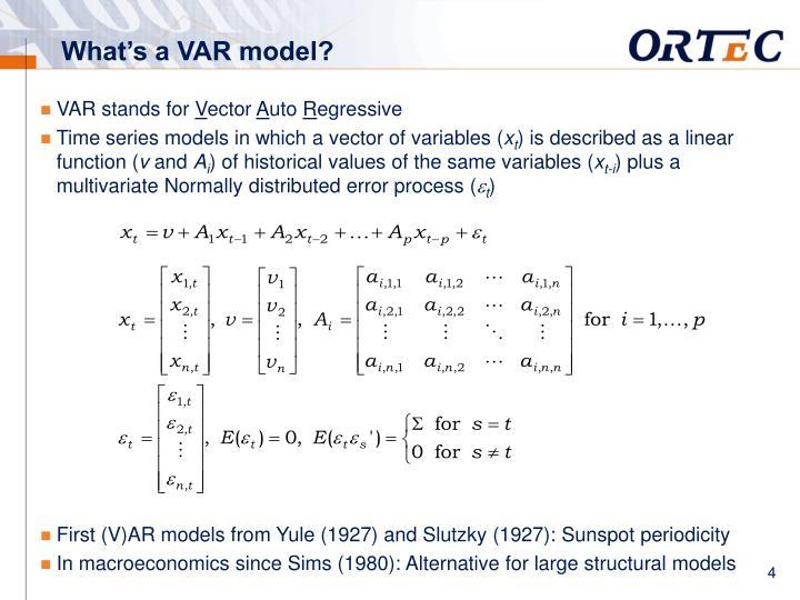 What's a VAR model?