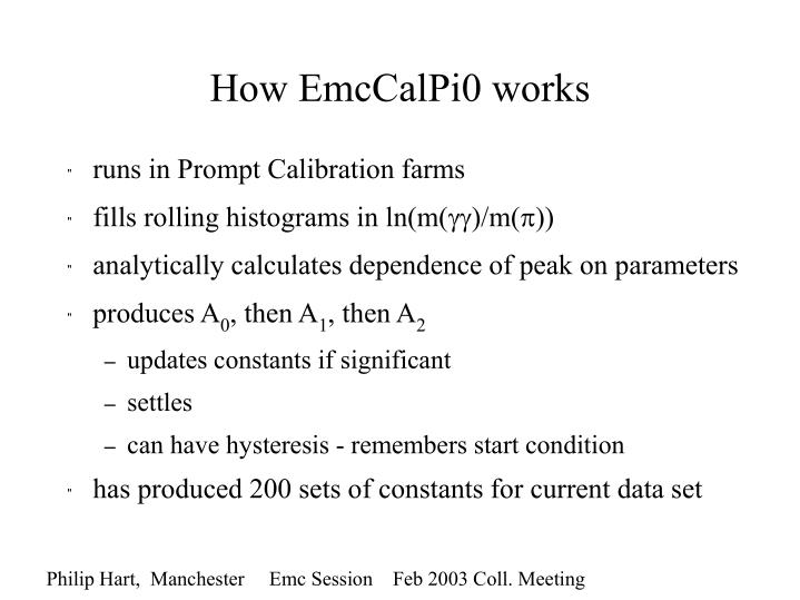 How EmcCalPi0 works