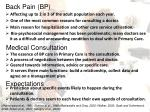 back pain bp