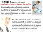 findings telephone interviews perceived importance of matched expectations1