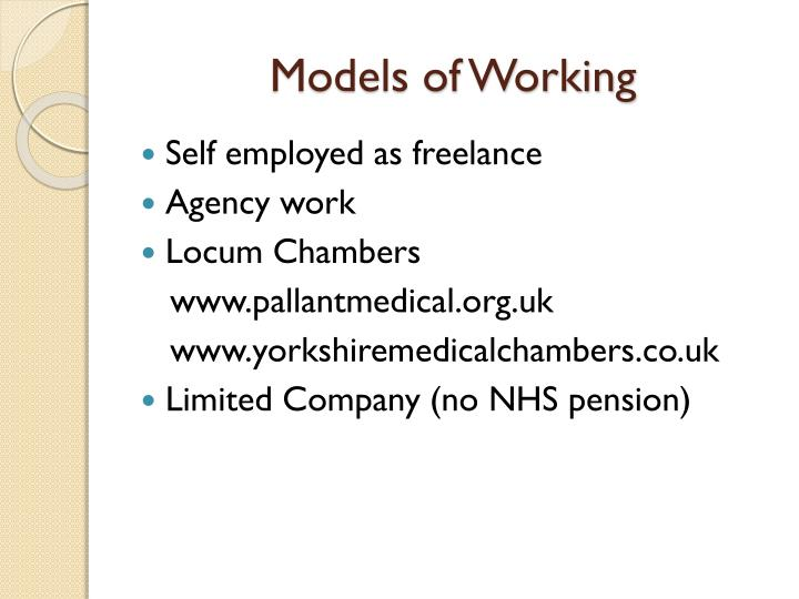 Models of Working