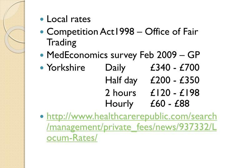 Local rates
