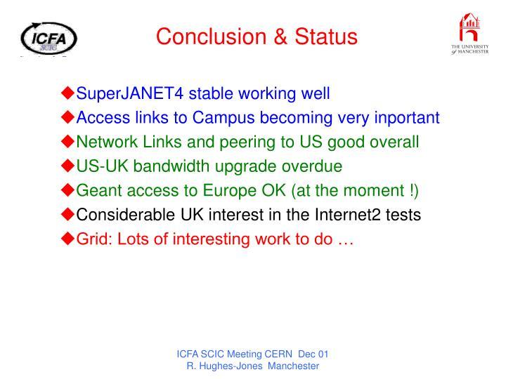 Conclusion & Status