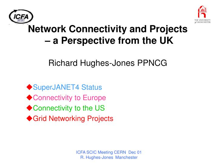 Network connectivity and projects a perspective from the uk richard hughes jones ppncg