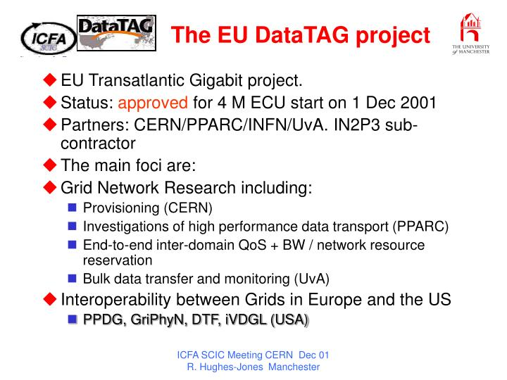 The EU DataTAG project