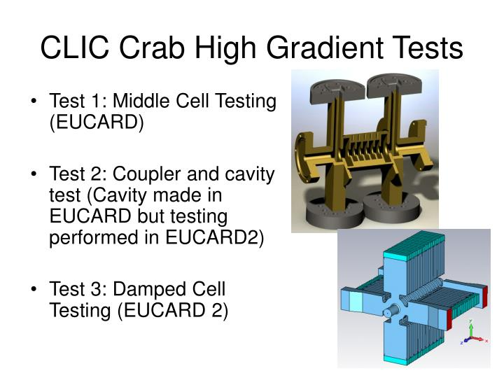 CLIC Crab High Gradient Tests