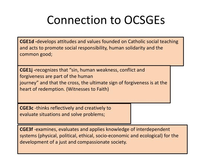Connection to OCSGEs