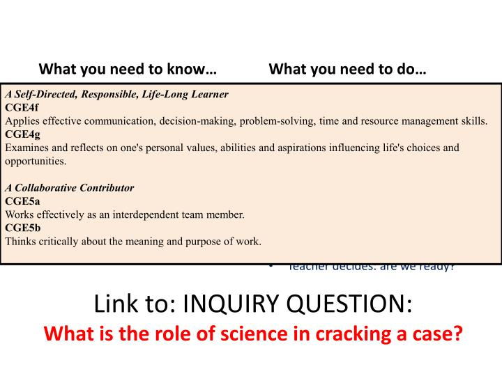 Link to: INQUIRY QUESTION: