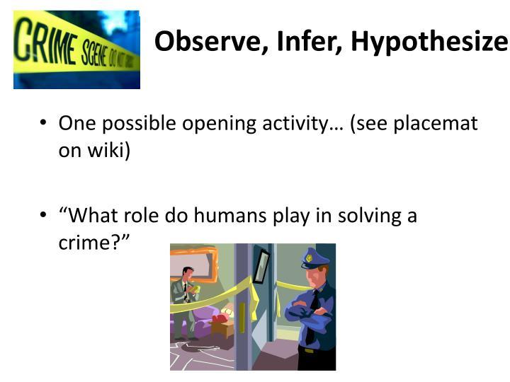 Observe infer hypothesize