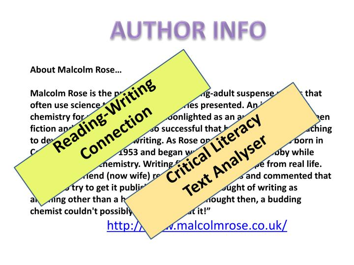 About Malcolm Rose…