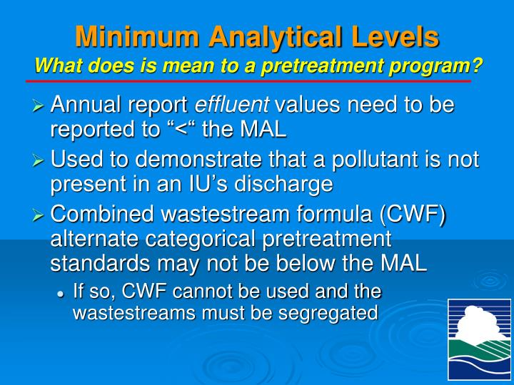Minimum Analytical Levels