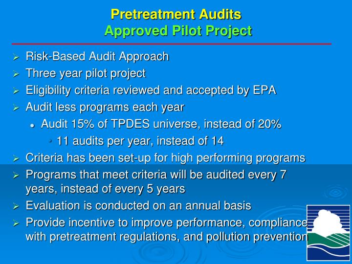 Pretreatment Audits