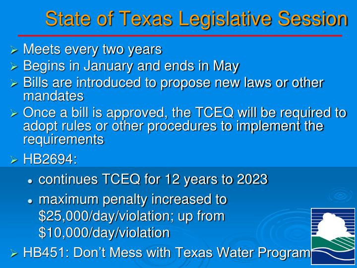 State of Texas Legislative Session