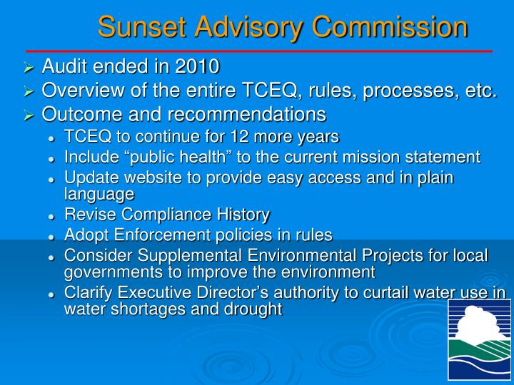 Sunset Advisory Commission