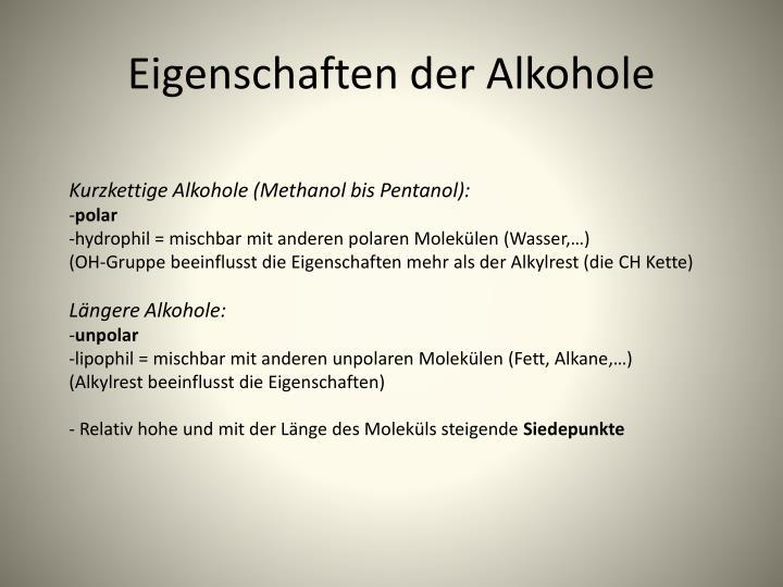 Ppt was du ber die chemie des alkohols wissen solltest - Eigenschaften der fabeltiere ...