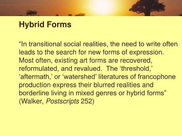 Hybrid Forms