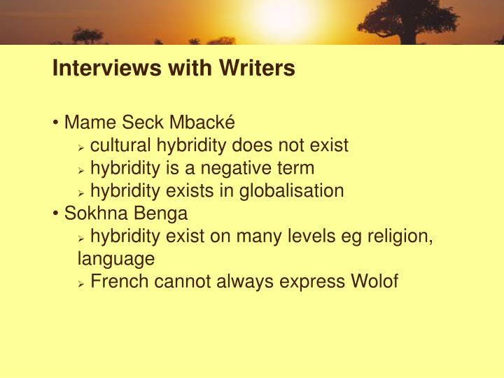 Interviews with Writers
