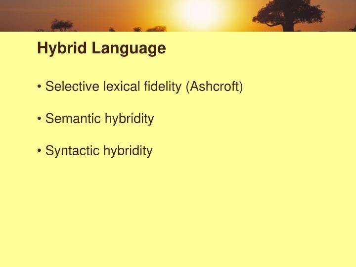 Hybrid Language