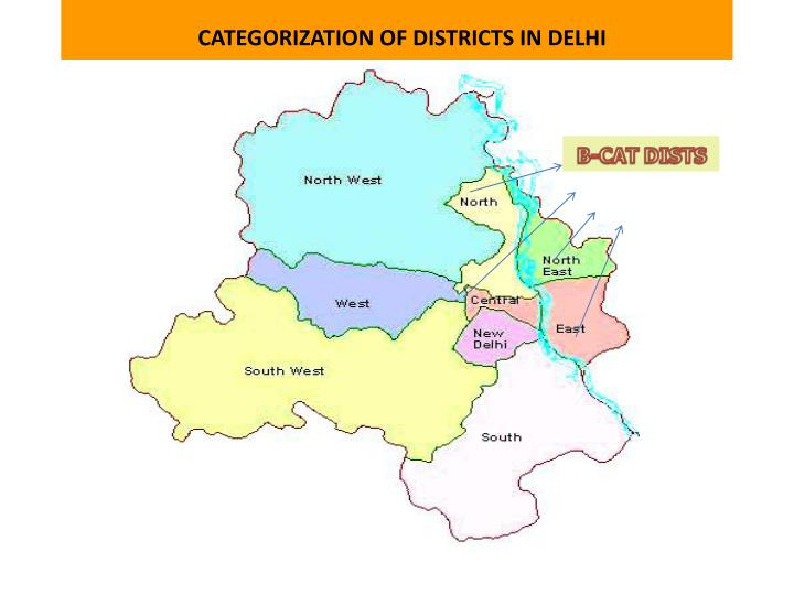 CATEGORIZATION OF DISTRICTS IN DELHI