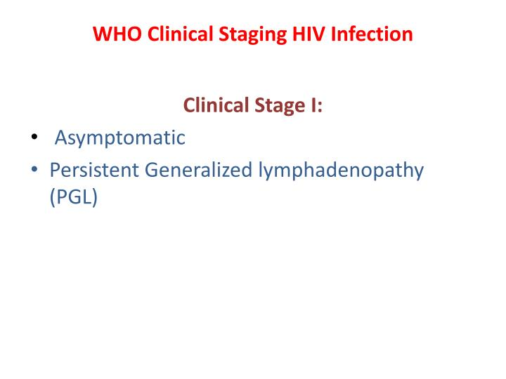 WHO Clinical Staging HIV Infection